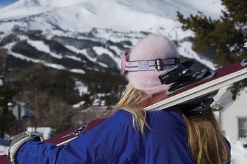Skiing at Grand Timber Lodge.