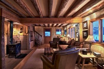 Living room view at Vista Verde Ranch.