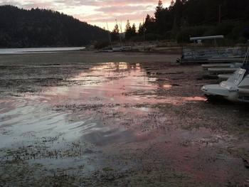 Fishing on lake at Vintage Lakeside Inn.