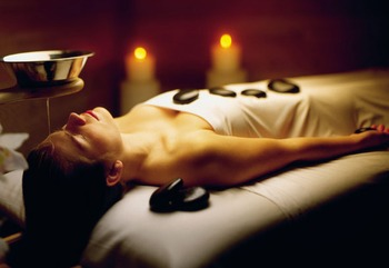 Hot stone massage at Nemacolin Woodlands Resort.