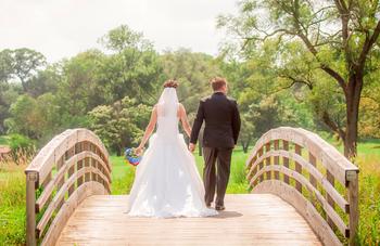 Wedding couple at Eaglewood Resort & Spa.