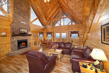 Vacation Home Living Area at American Patriot Getaways, LLC