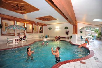 Indoor pool at Cliffside Resort.