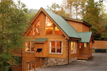 Rental exterior at Jackson Mountain Homes.