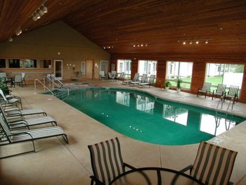 Indoor pool at Birchwood Lodge.