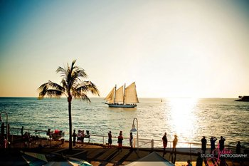 Ships on the ocean at The Westin Key West Resort.