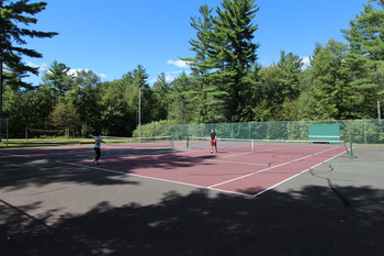 Tennis court at Attitash Mountain Village Resort.