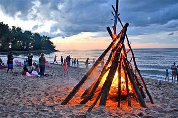 Bonfire at Sawmill Creek Resort.
