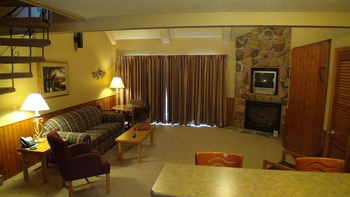 Interior view Kavanaugh's Sylvan Lake Resort.