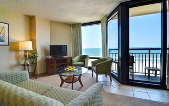Guest living room at Shell Island Resort.
