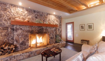 Honeymoon suite fireplace at Sonoma Coast Villa & Spa Resort.