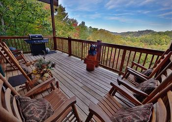 Rental deck at Eden Crest Vacation Rentals, Inc.