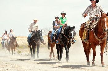 Horse trails at Lajitas Resort.