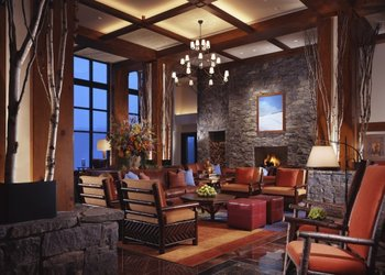 The lobby at Stowe Mountain Lodge.