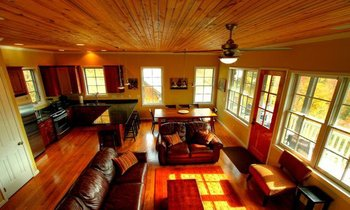 Cabin Living Area at Scenic Wolf Resort