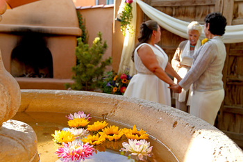 Wedding ceremony at Hotel St. Francis.