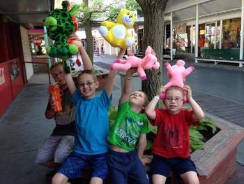 Family at Indiana Beach Amusement Resort.