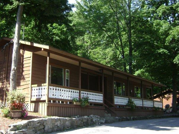 Cabin exterior at Boulders Resort.