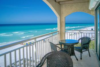 Balcony view at Beach Rentals of South Walton.