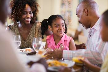 Family dining near Holiday Inn Club Vacations Williamsburg Resort.