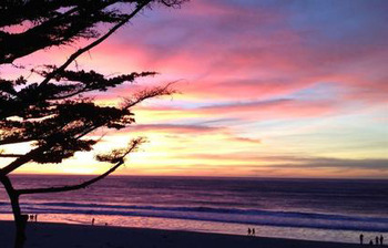 Beautiful sunset at Carmel Lodge.