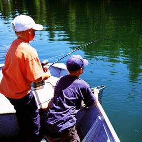 Fishing Fun at Pine Lodge Cabins & Suites