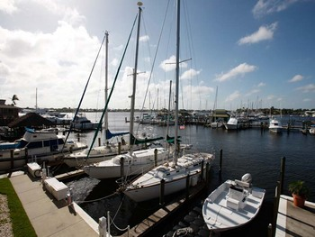 Marina at Cove Inn on Naples Bay.