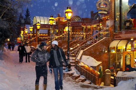 Romantic walk at Blue Sky Breckenridge.