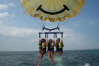 Water activities at Paradise Oceanfront Resort.