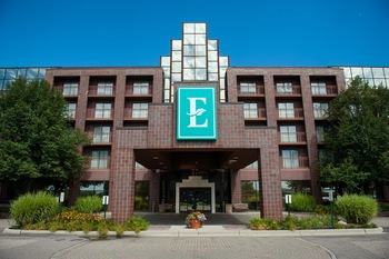 Exterior view of Embassy Suites Detroit - Livonia/Novi.
