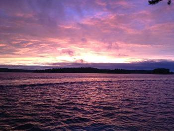 Sunset at Nelson's Resort.
