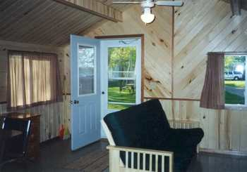 Cottage interior at Limmer's Resort.