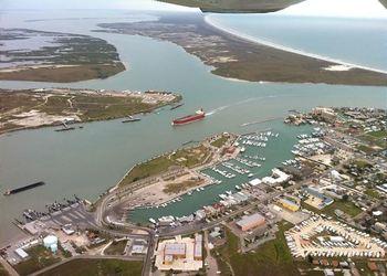 Aerial view of Port Aransas Escapes.