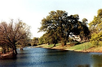 Lake view at  Fredericksburg Ranch.