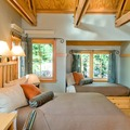 Sleeping Lady's Double Alcove Rooms feature a Queen sized bed and two Twin sized beds. Occupancy is four people and are ideally suited to families with children.