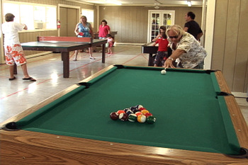 Game Room at Hill Country RV Resort
