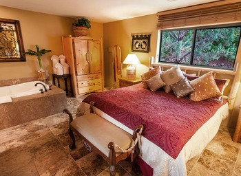 Guest bedroom at A Sunset Chateau.