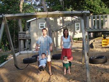 Swing set at Point Randall Resort.
