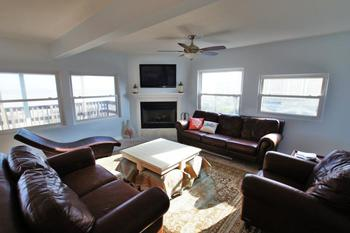 Vacation rental living room at Ryson Vacation Rentals.