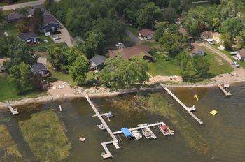 Aerial view of Elm Haven Resort.
