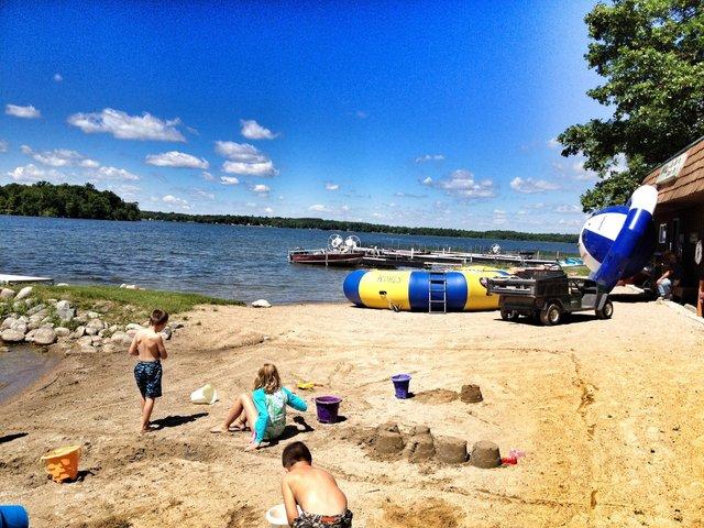 The beach at Kohl's Resort.