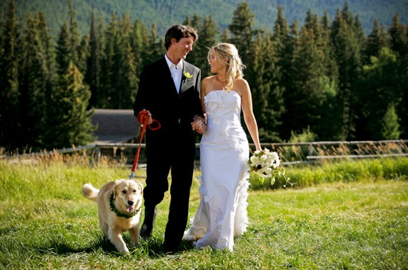 Wedding couple at Trail Creek Ranch.