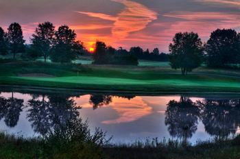 Sunset at Yarrow Golf & Conference Resort.