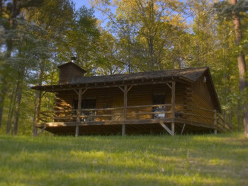 Cabin exterior at Silver Ridge Resort.