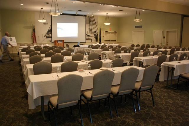 Conference room at Sebasco Harbor Resort.