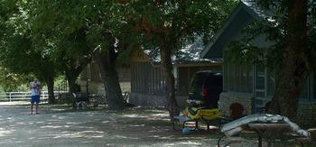 Cabin exterior at Waltonia Lodges.