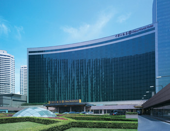 Exterior view of China World Hotel.