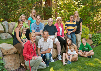 Family reunion at Granlibakken Resort.