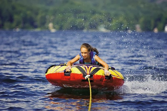Water tubing at Lake Morey Resort.