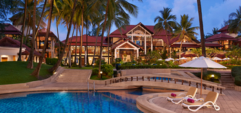 Exterior view of Dusit Laguna Resort.